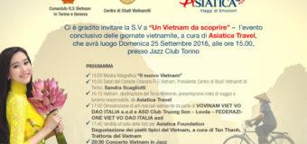 LE GIORNATE VIETNAMITE  A TORINO E IN PIEMONTE 23, 24, 25, 26 settembre 2016